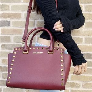 ‼️SALE‼️👜💕-NWT Michael Kors studded satchel